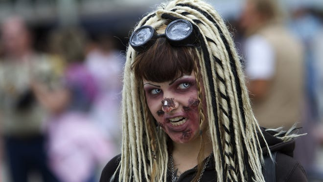 A scene from the 2012 New Jersey Zombie Walk in Asbury Park.