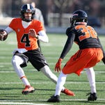 Oregon State redshirt freshman quarterback Nick Mitchell worked with the scout team last season.