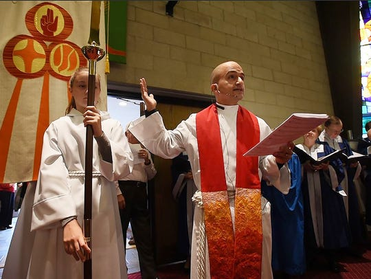 The Rev. Marc Stutzel of Christ Lutheran Church in