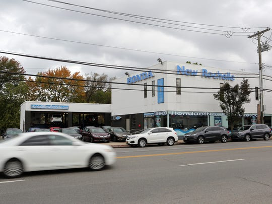 The Honda dealership on Route 1, one of 11 car dealerships