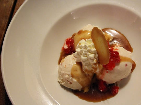 The Brown Bottle in Milwaukee serves a Brandy Old Fashioned Sundae for dessert using Purple Door Ice Cream, made two miles away.