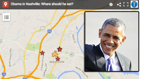 Tennessean readers offer suggestions for where Obama should eat during trip to Madison.