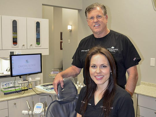 Drs. Catherine Sledge of Jackson, and her father, Michael Carter of Ridgeland have been in practice together for the past six years.