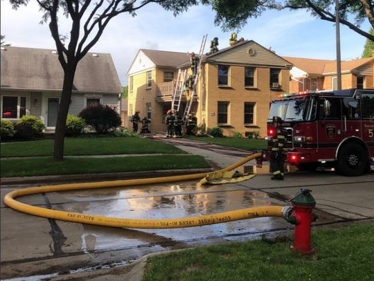 Wauwatosa Fire Department  responded to a fire in the