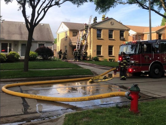 Wauwatosa Fire Department  responded to a fire in the 8600 block of Stinkney Avenue on June 18.