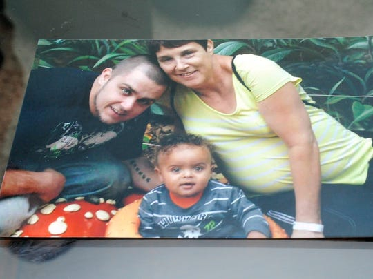 Kim Friedrich, right, is pictured with her son, Larry Miller, left, and Friedrich's grandson, Landon Miller.