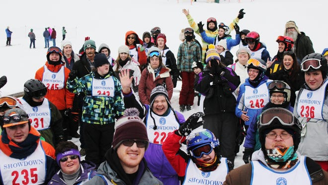 Athletes pose prior to the Special Olympics area winter games at Showdown in Feb. 2017. The 2018 winter games have been postponed due to an incoming winter storm.
