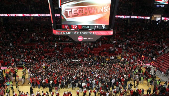 Texas Tech was fined $25,000 by the Big 12 for storming the court on Saturday.