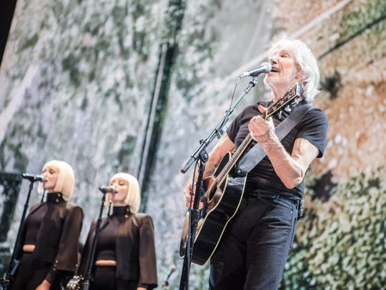 Roger Waters performing with Lucius at Gila River Arena