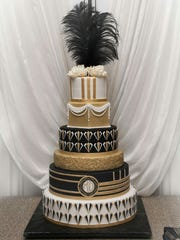 Wedding cakes, such as this beauty by Black Market Cake of Port Charlotte, continue to become more ornate and reflective of individual tastes.