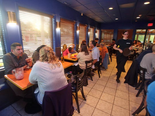 Umami Cafe in Croton is busy in 2013 as diners fill the restaurant before heading to the Great Jack O'Lantern Blaze at nearby Van Cortlandt Manor.