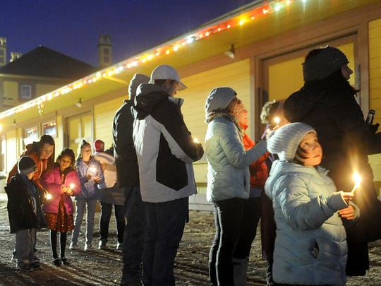 About two dozen members of Fernley's Jewish community celebrated Hanukkah during a community menorah lighting ceremony Dec. 13.