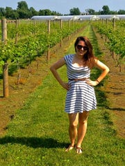 Jenna Intersimone at Beneduce Vineyards.
