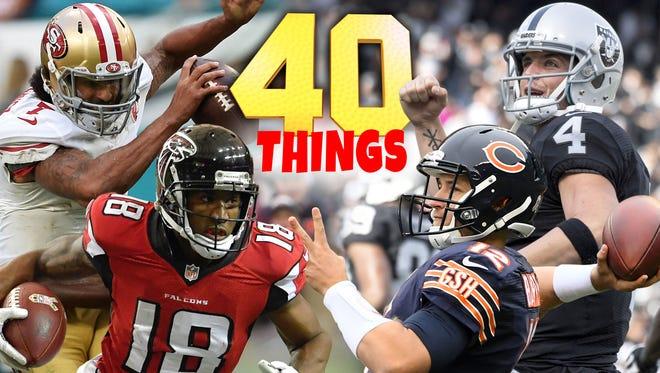 40 things we learned in NFL Week 12.