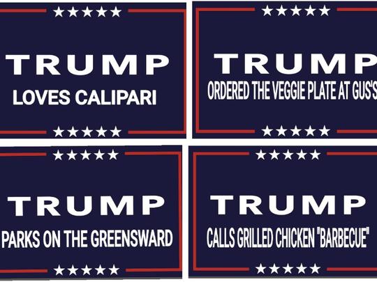 """Memphis """"Trump"""" signs."""