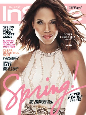 Kerry Washington appears on the cover of the March 2015 issue of InStyle.