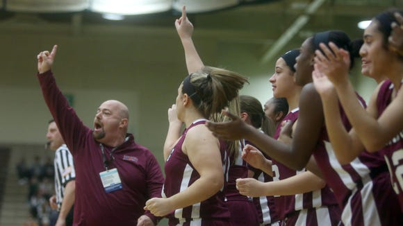 Ossining defeated Shenendehowa 69-66 to win the New York State Class AA championship at Hudson Valley Community College in Troy March 12, 2016.