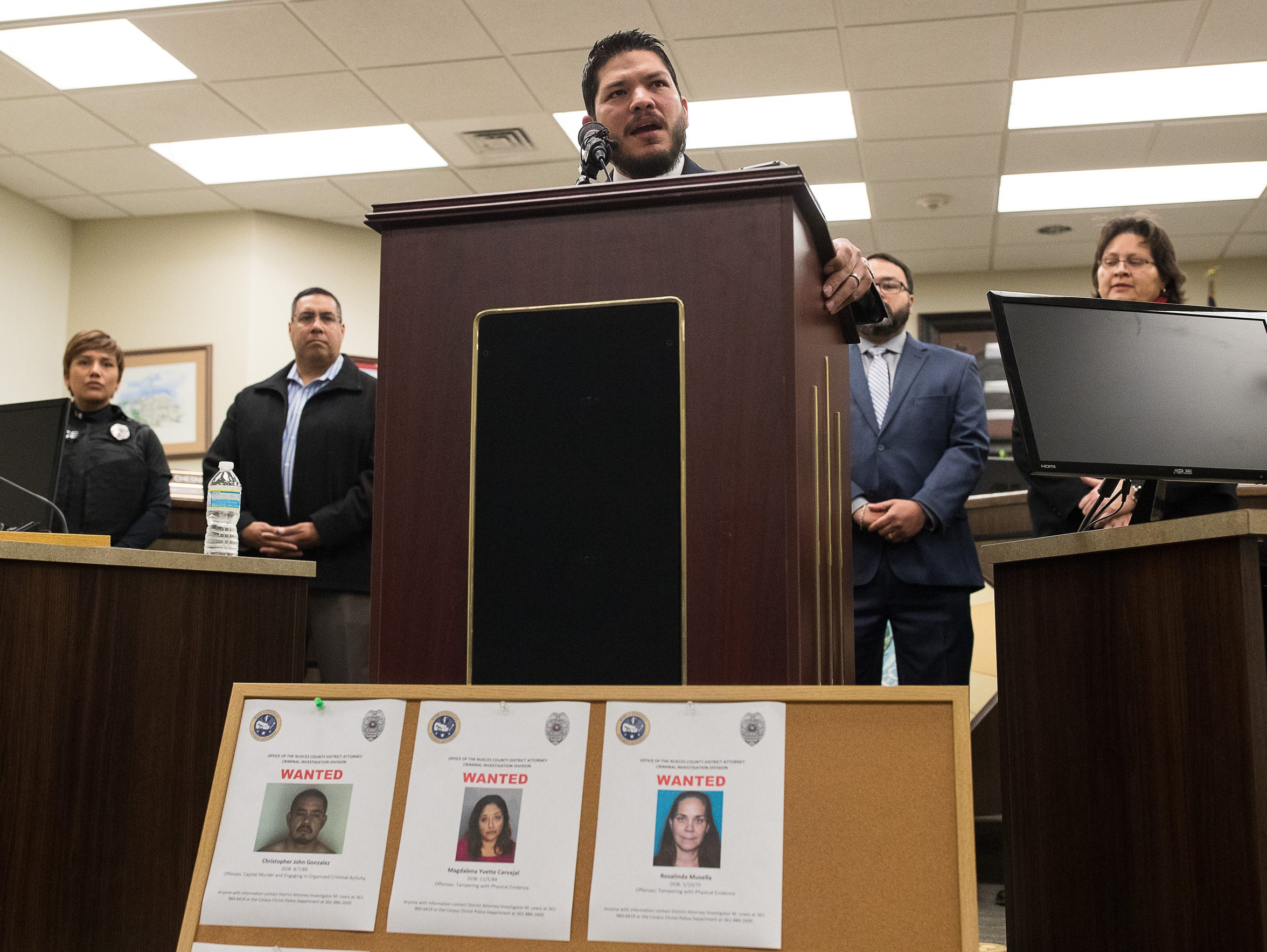 Nueces County District Attorney Mark Gonzalez announced