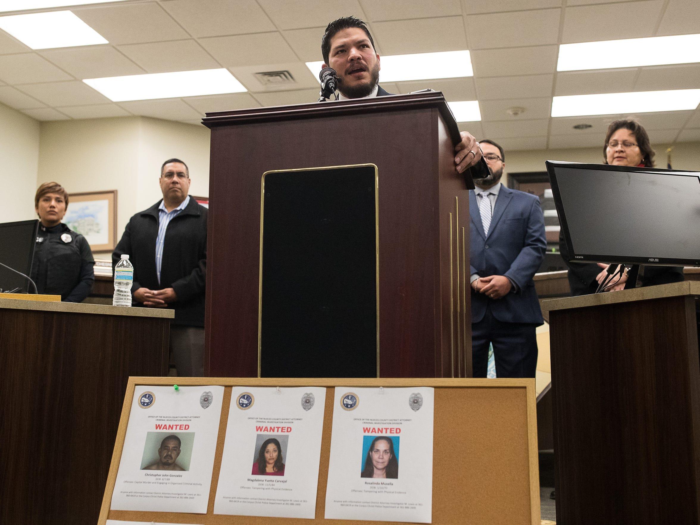 Nueces County District Attorney Mark Gonzalez announced