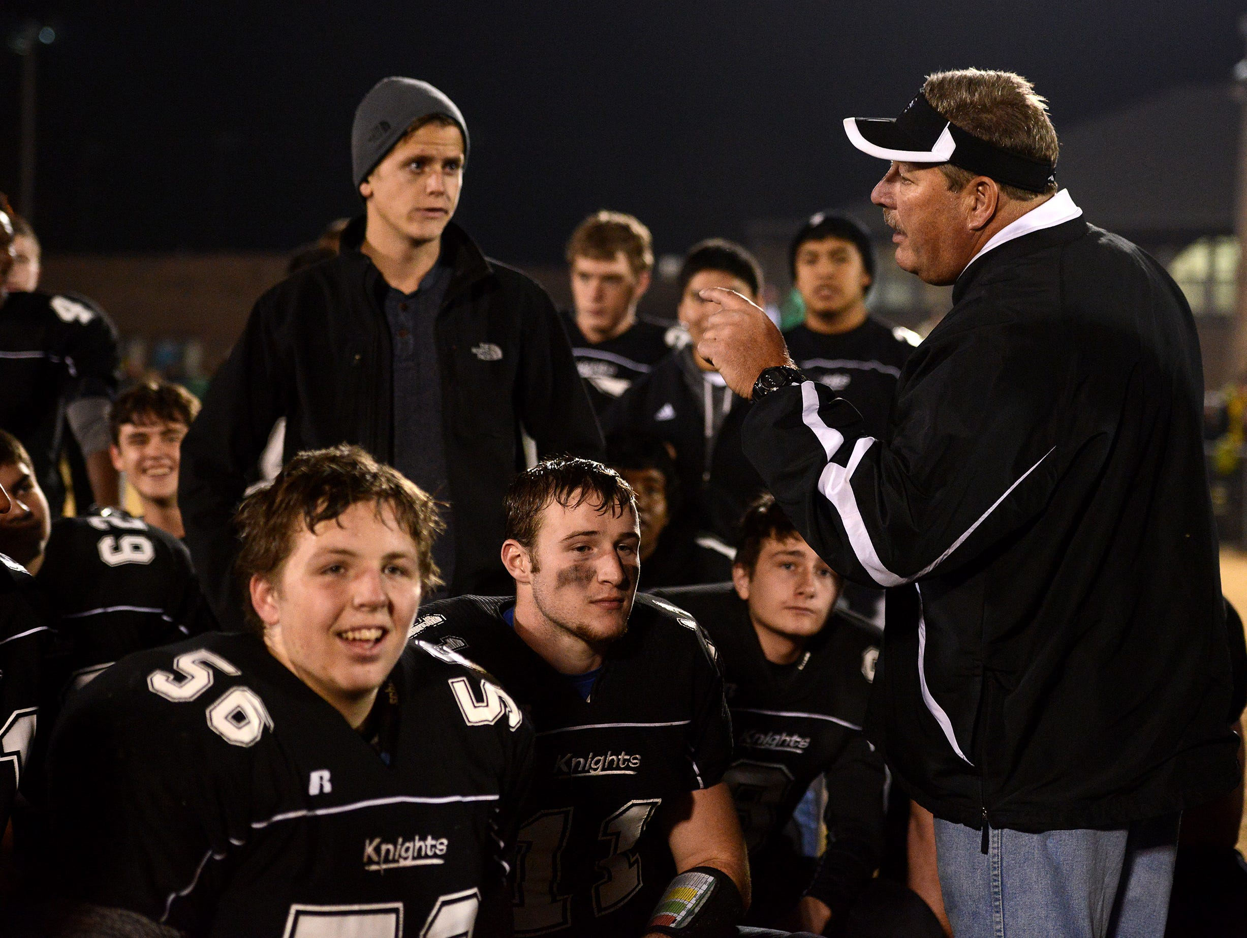 Robbinsville football coach Dee Walsh has won 112 games with the Black Knights, including a 16-0 mark in 2014.