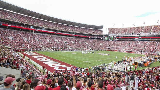 Fans cheer during the Alabama-Tennessee football game at Bryant-Denny Stadium on Oct. 21, 2017.