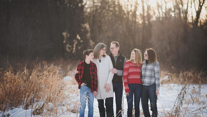 Trey and Corene Everett are pictured with their kids, left to right, Jack, Zoe and Maddie.