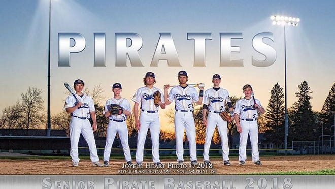Crookston High School 2018 Pirates Baseball seniors