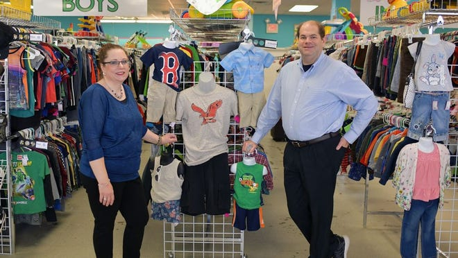 Cassandra and Neil Abramson of Cutie Patuties consignment store in Leominster.