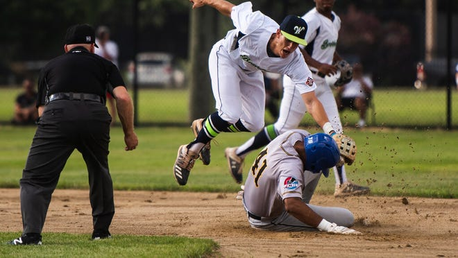 Worcester's Danny Torres, shown making a play in the Bravehearts' home opener last week, had the eventual game-winning hit on Tuesday.