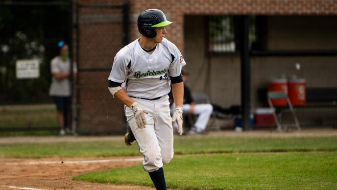 Ben Rice had three hits, including a homer, but the Bravehearts fell to Brockton on Monday.