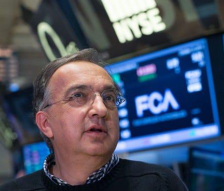 FCA CEO Sergio Marchionne.