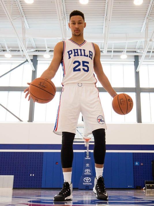 USP NBA: PHILADELPHIA 76ERS-MEDIA DAY S BKN USA NJ