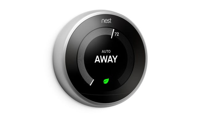 The Nest Thermostat automatically turns itself down after you leave to help you save energy.