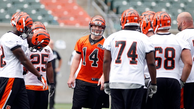 A career-high 586 pass attempts last season led to Bengals QB Andy Dalton throwing 20 INTs, but also 33 TDs. The Enquirer/Cara Owsley