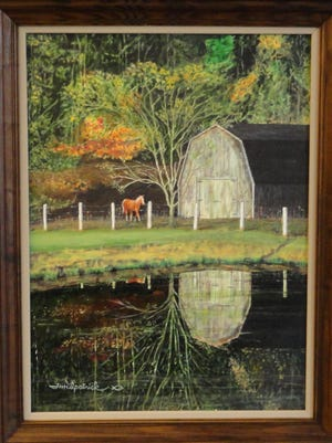 Braxton Co. WV, a painting by Tom Kilpatrick.