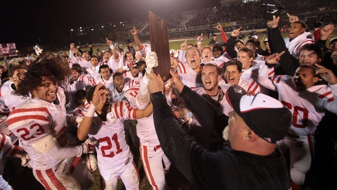 The Palm Springs High School football team has that championship glow again.