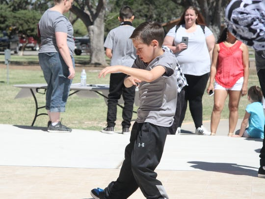 Kids as young as 7-year-old Jordyhn Serna participated