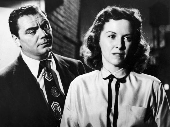 A gentle Ernest Borgnine with Betsy Blair in 'Marty--
