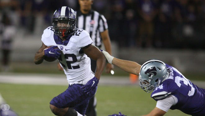 Aaron Green (22) and TCU got a boost this week by beating Kansas State but also because of Texas' win vs. Oklahoma.