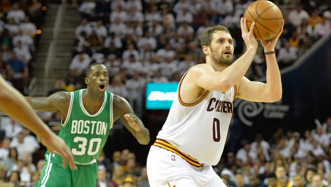 Cleveland's Kevin Love looks a bit like Andrew Miller of the Indians.