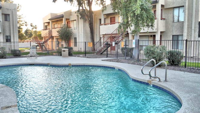 The pool at an apartment complex in Glendale.