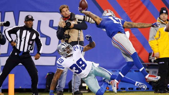 Giants receiver Odell Beckham Jr.'s one-handed touchdown catch last month against the Cowboys quickly became legendary.