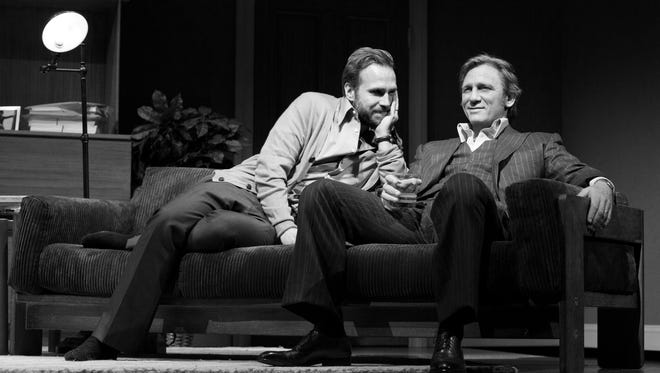 Rafe Spall, left, as Jerry and Daniel Craig as Robert in a scene from Harold Pinter?'s play  'Betrayal,' directed by Mike Nichols.