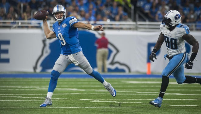 The Lions' Matthew Stafford completed 22 of 40 passes for 260 yards and one TD. He threw a costly interception on the team's last drive.