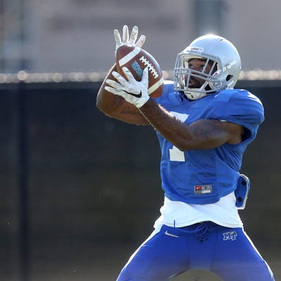 MTSU's Joc Bruce (7) is out for the season.