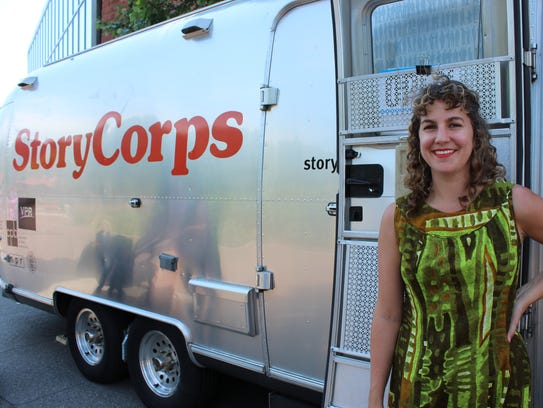 Stacey Todd, the site manager for the StoryCorps mobile