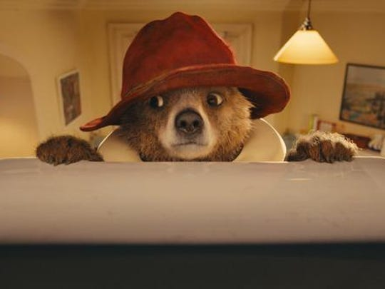 Paddington, voiced by Colin Firth, in a scene from