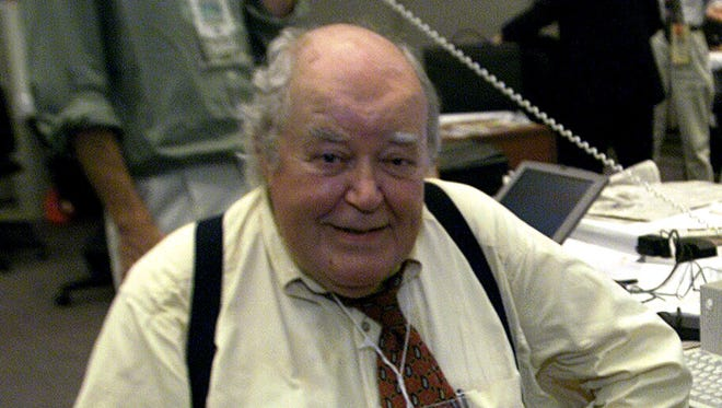 Jack Germond at at the Democratic National Convention in 2000.