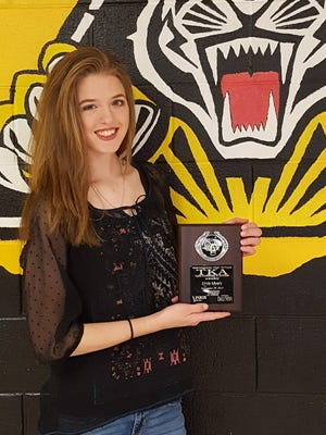 We salute Alamogordo High School senior Emily Myers. Myers is a member of the National Honor Society and Golden Scholar as well as being a high school swimmer but she always finds time to help her mom around the house. She wants to write poetry and prose as a career.