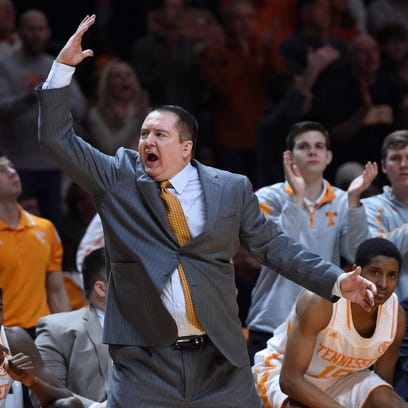 Donnie Tyndall rallies the home crowd during the second